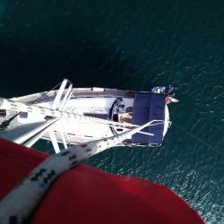 Keila Deshaies Guadeloupe voilier 14m- Pont Teck, vaste cockpit