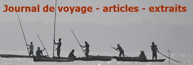 Journal de voyage - extraits - articles