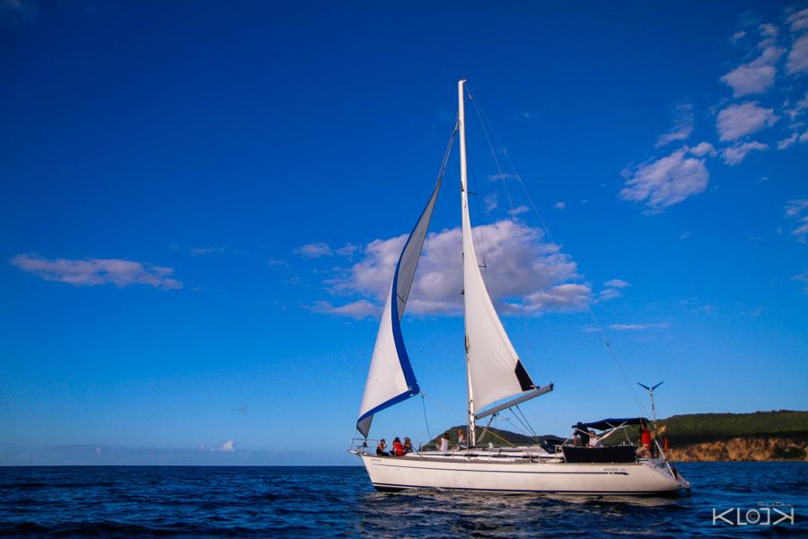 Keila Deshaies Guadeloupe un voilier vers les ilets Kahouanne ou Pigeon